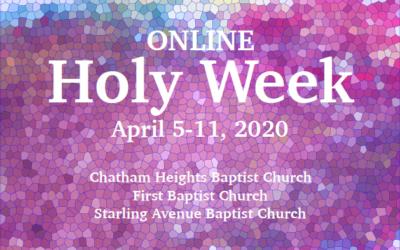 Online Holy Week 2020