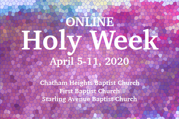 Online Holy Week 2020
