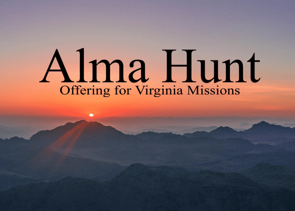 Alma Hunt Virginia Missions Offering 2020
